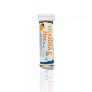 Vitamina C + Zinc efervescente 1000 mg